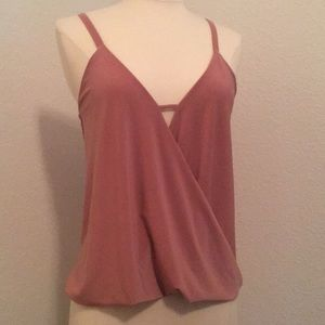 Lulu's rose colored strappy top